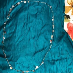 Jewelry - Long silver necklace with charms